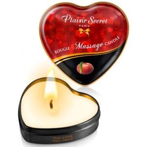 Mini bougie de massage pêche de vigne boîte cœur 35 ml