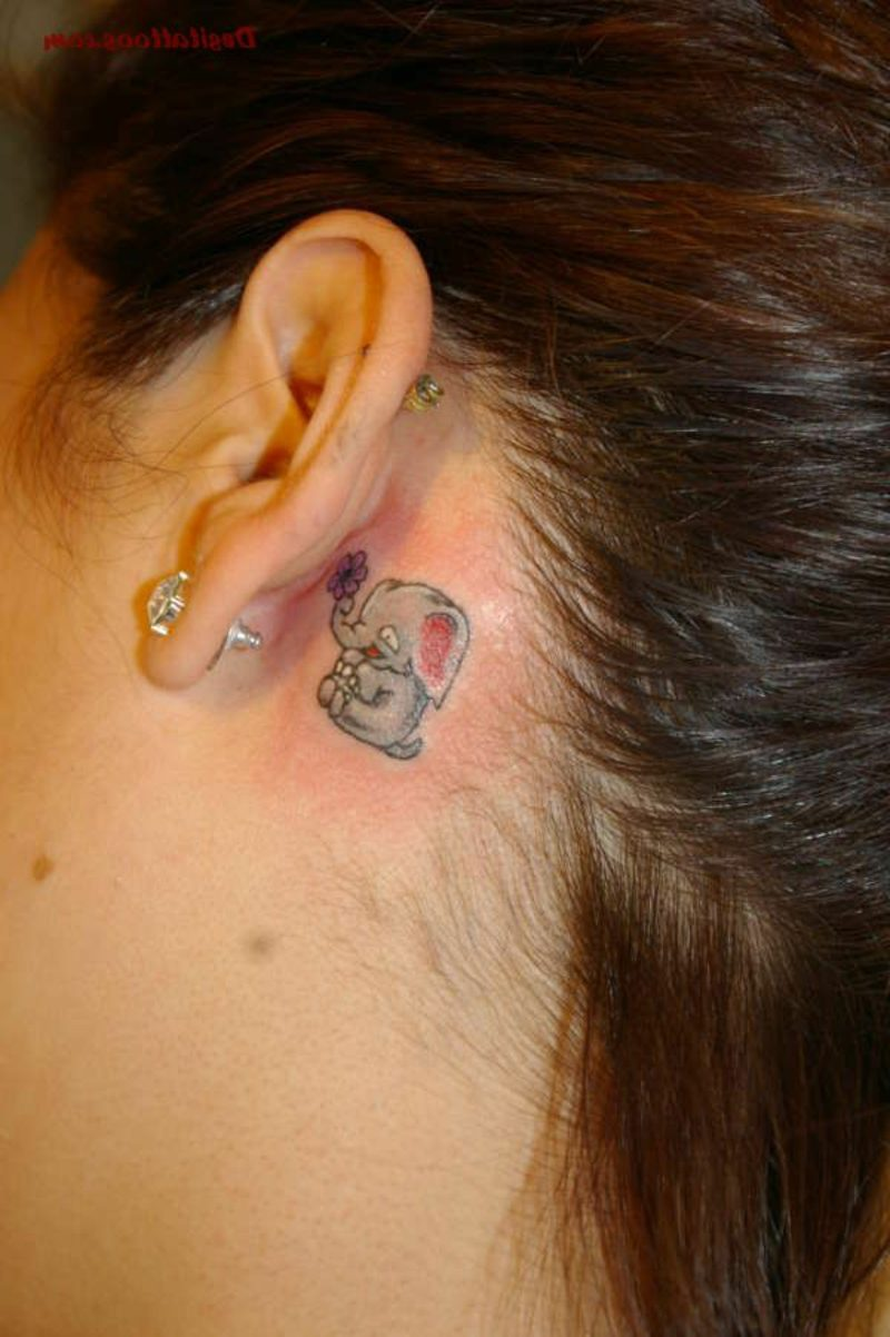Tattoo Plant Ear Elephant