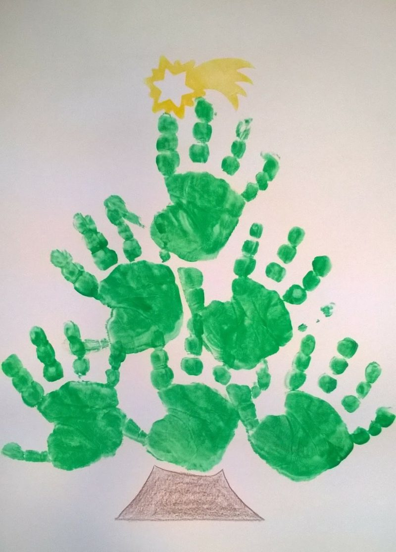 Basteln Mit Handabdruck Weihnachten Inspirierende Ideen