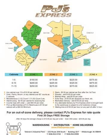 PJ Express Zone Map-01