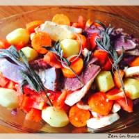 Curcan cu legume la cuptor - slow cooked
