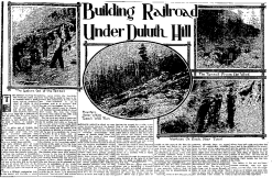 A clipping from the October 30th 1910 Duluth News Tribune showing the location of the tunnel. (Image: Zentih City Press)