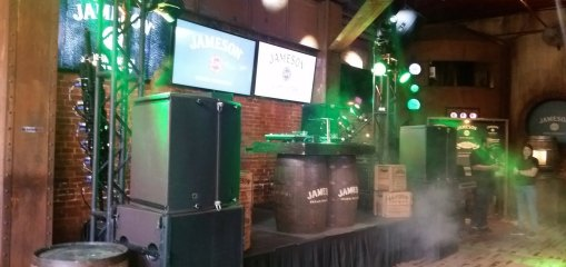 jameson whiskey party zenith lighting preshow