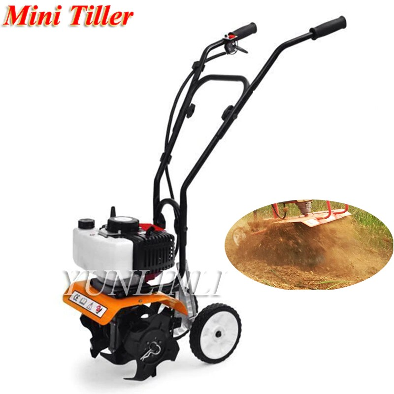 52cc Garden Cultivator Mini Tiller Rotary Hoe Tine Tiller 1900W Mini Cultivator Pro Machine For Soil Loosening Equipment 1E44F-5