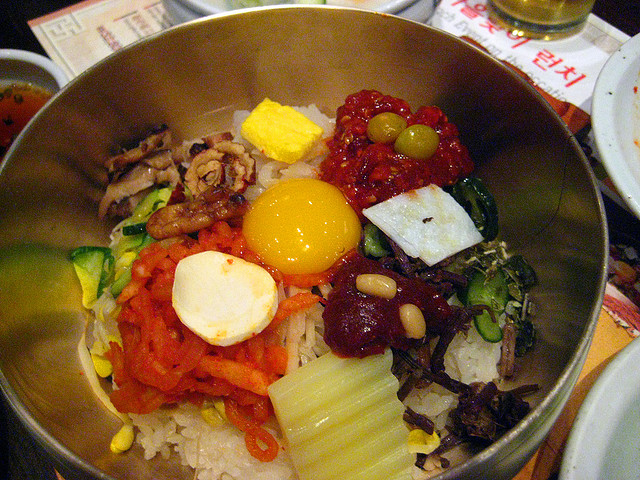 The classic Jeonju bibimbap from Gogung