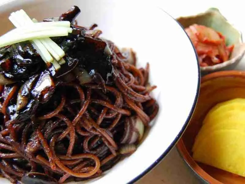Jjajangmyeon: Noodles with Black Bean Sauce