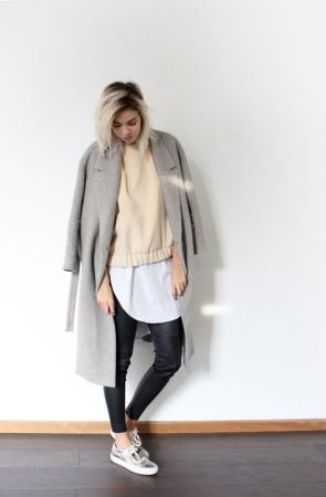 On-trend look with shirt, jumper and cardigan layered together.