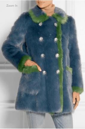 Net-A-Porter Glinda Faux Fur Coat: SALE £278