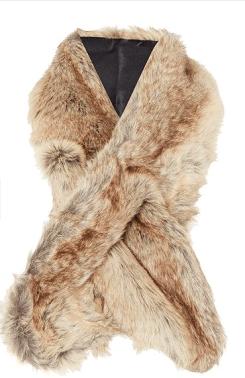 Linea Faux Fur Slot Through Scarf: SALE £15 @ House of Fraser