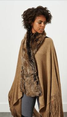 Miss Selfridge Brown Faux Fur Stole: £12
