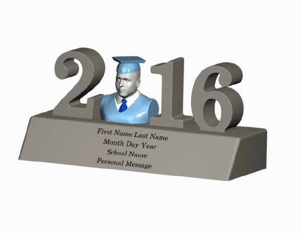 Home Decor-2016 Graduation Figurine Sculpture Statue 3D Portrait Graduation 3D Photo Graduation Photo 3D Home Decor - 2016 Graduation Figurine Sculpture Statue Shirt and Tie Large Graduation Gift Idea for Him Unique Graduation Gift for Him Graduation 3D Selfie Personalized Graduation Figurine Personalized Graduation Sculpture Personalized Graduation Statue 2016 Graduation Figurine Graduation Figurine