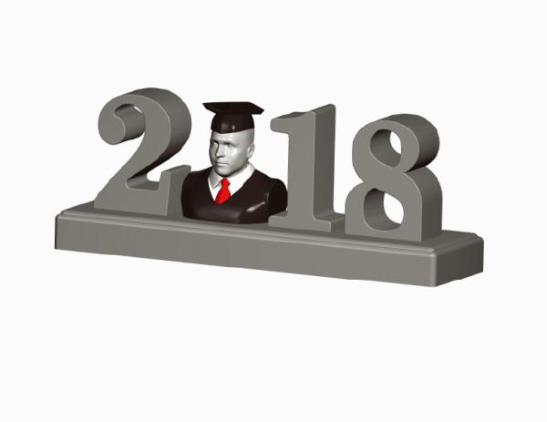 Graduation Figurine Home Decor-2018 Personalized Graduation Figurine Sculpture Statue Shirt Tie Small- Graduation Gift Idea-Precious Moment-Precious Memories-3D Photo-3D-Selfie