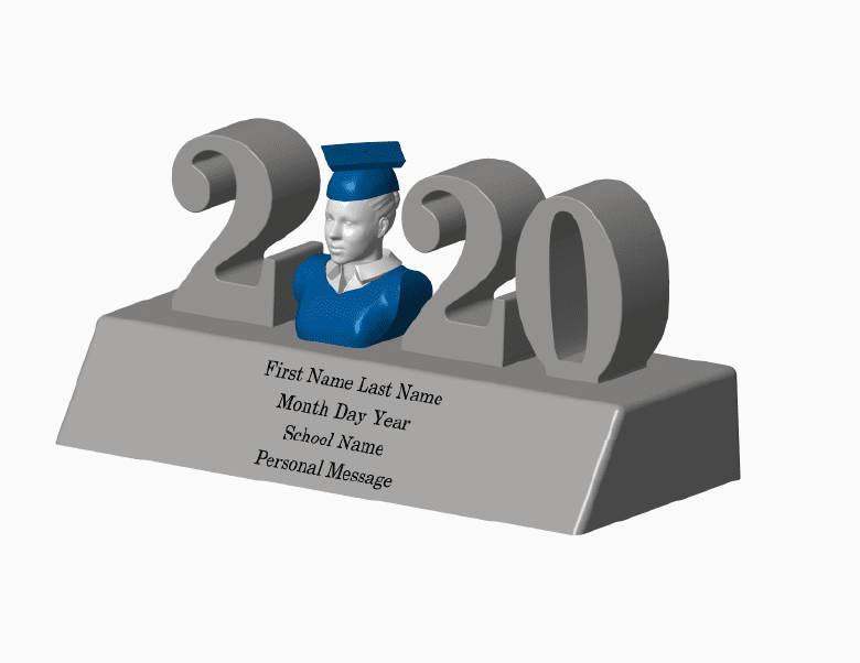 Home Decor-2020 Personalized Graduation Figurine - Gown Blouse Large