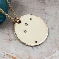 Aries constellation necklace in gold