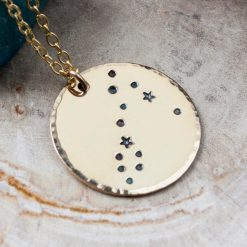 Pisces constellation necklace in gold