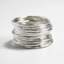 Individual Sterling silver stacking rings