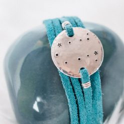 Gemini constellation leather wrap bracelet