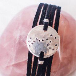Scorpio constellation leather wrap bracelet