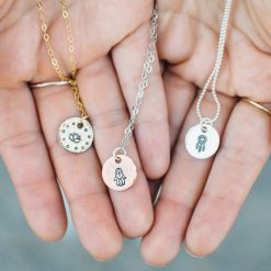 Custom Yoga charm necklace in your choice of metal