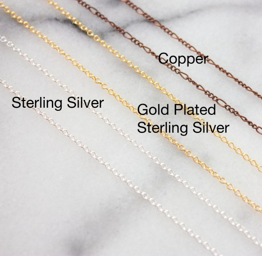 Customize your own point crystal necklace (chain options)