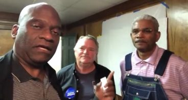 Charles Rousseau and Kevin Madden Of Fayette County Democrats