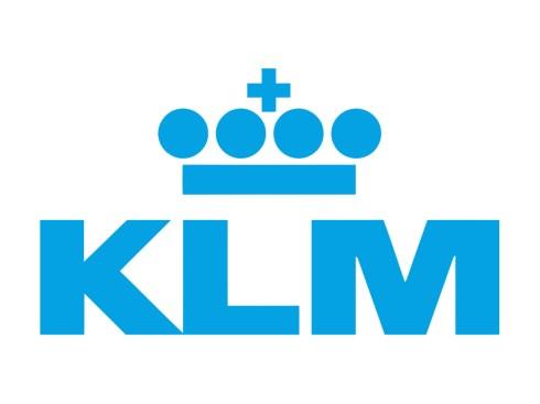 Ter ere van de KLM vandaag niet in zwart rood wit. Maar KLM blauw en wit.