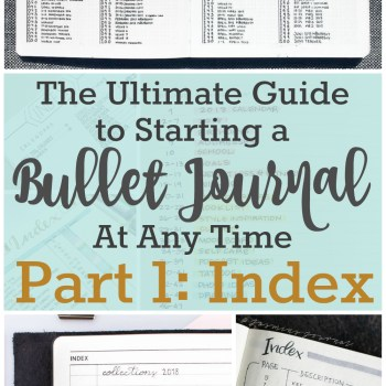 How to Create Your Bullet Journal Index | Zen of Planning | Planner Peace and Inspiration