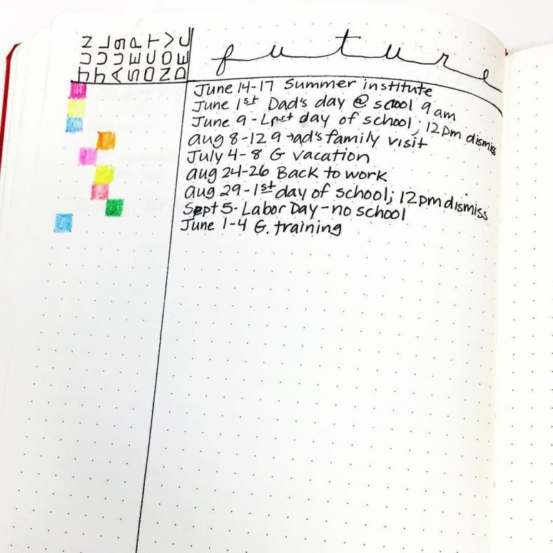 Planning the future in your bullet journal has never been easier or more beautiful   Zen of Planning   Planner Peace and Inspiration