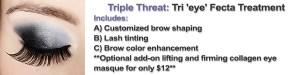 Triple Threat Brow Shaping Brow Tint Lash Tint Zen Skincare Asheville NC.