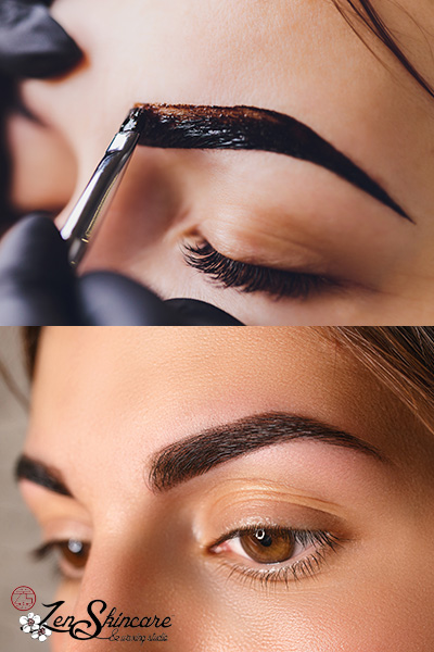 Eyebrow Henna Service at Zen Skincare Waxing Studio Asheville, NC