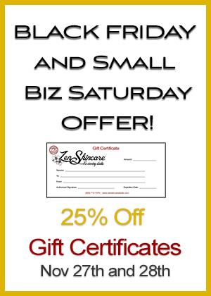 Black Friday Special Discount Zen Skiincare Waxing Studio Asheville NC