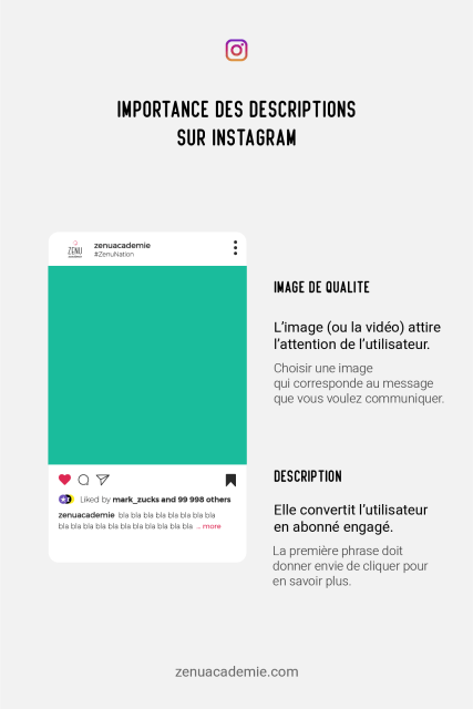 Importance des descriptions sur Instagram