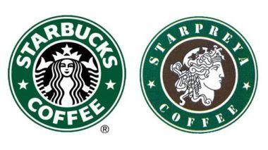 Logos Starbucks et Starpreya