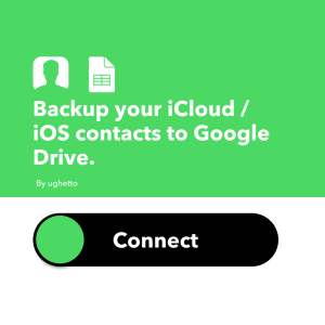 Contact iOS to Google Drive