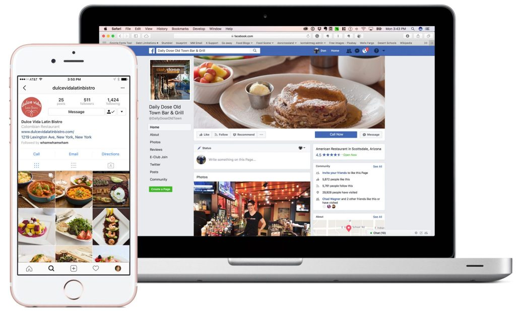 Restaurant photography for social media and marketing
