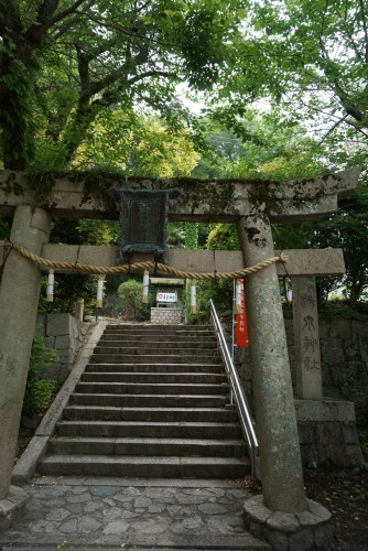 Torii gate by the side of Onsenji Temple