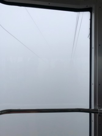 At this point we can't see far inside the gondola