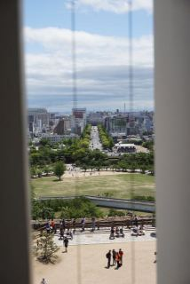 View from 2nd floor in Himeji Castle