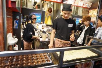 The famous takoyaki balls invented in Osaka