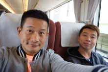 On board one of the trains to Amanohashidate