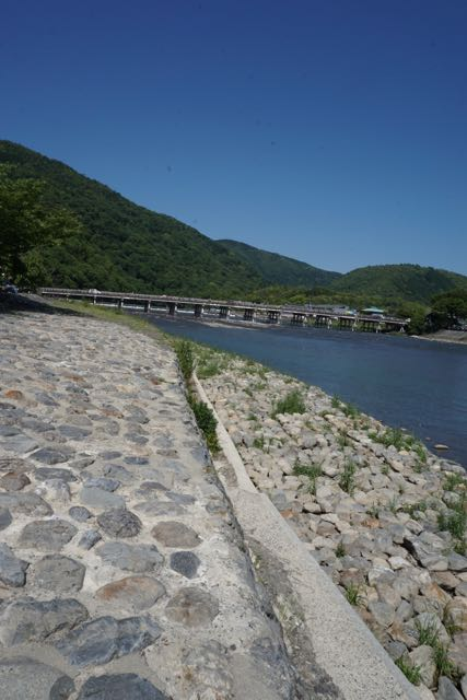 Our first glance of Togetsukyo Bridge