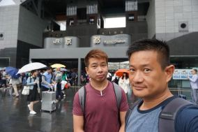 Setting out from Kyoto JR Station to Ginkakuji