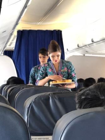 Flight Attendants during meal runs