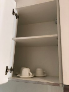 Tea cups for 4 in the cabinet
