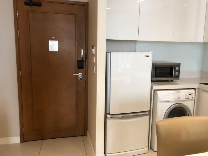 Full size fridge in the suite