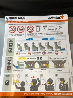 Jetstar A320-300 safety card