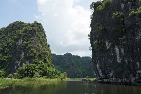 View of the limestone mountains at the cavern