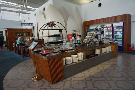 Food counter in Lotus Lounge