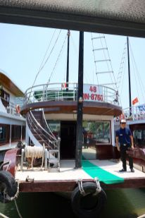 The cruise boat that took us around in Halong Bay