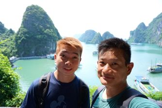 Taking a wefie at the viewpoint on Bo Hon Island